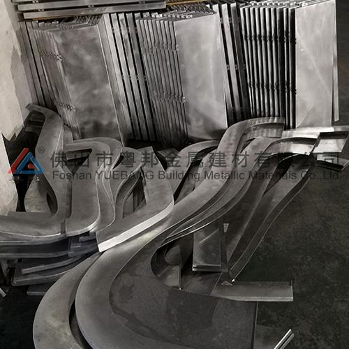 Square tube of aluminum profile YB-04